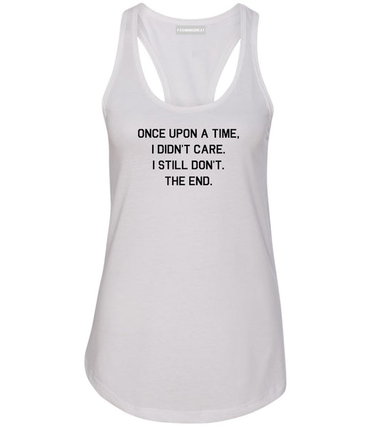 Once Upon A Time White Womens Racerback Tank Top