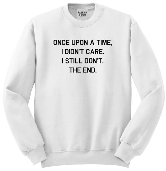 Once Upon A Time White Womens Crewneck Sweatshirt