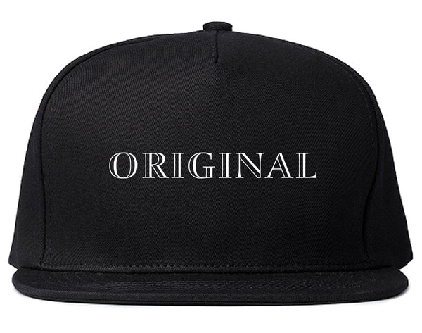 Original Snapback Hat Black