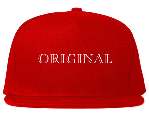 Original Snapback Hat Red