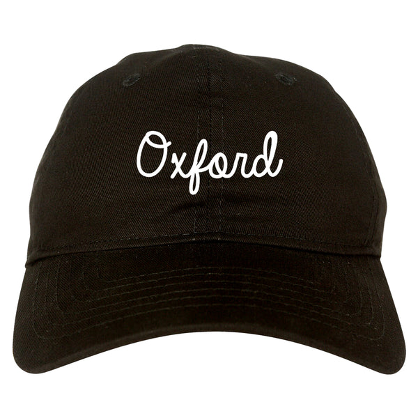 Oxford Britain Script Chest black dad hat