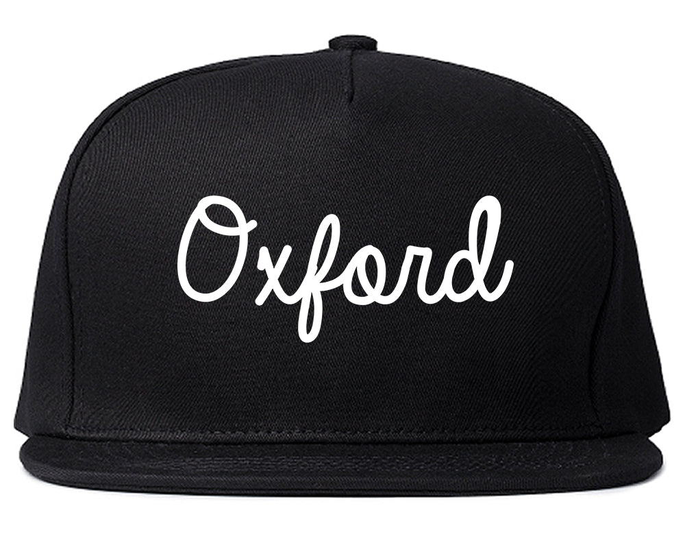 Oxford Britain Script Chest Black Snapback Hat