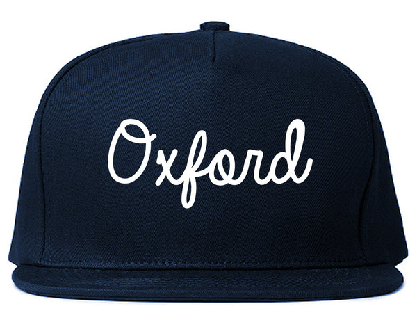 Oxford Britain Script Chest Blue Snapback Hat