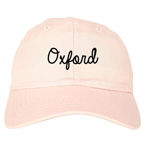Oxford Britain Script Chest pink dad hat