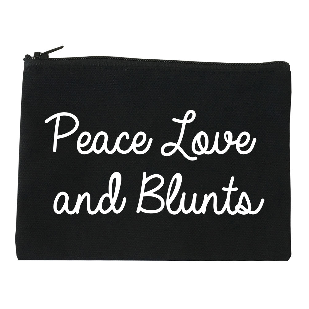 Peace Love Blunts Weed 420 Makeup Bag Red