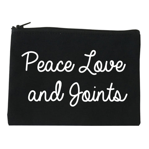 Peace Love Joints Weed 420 Makeup Bag Red