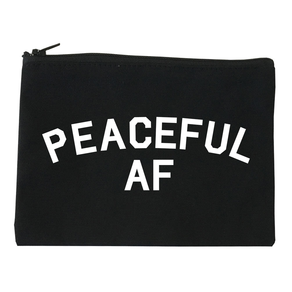 Peaceful AF Namaste Makeup Bag Red