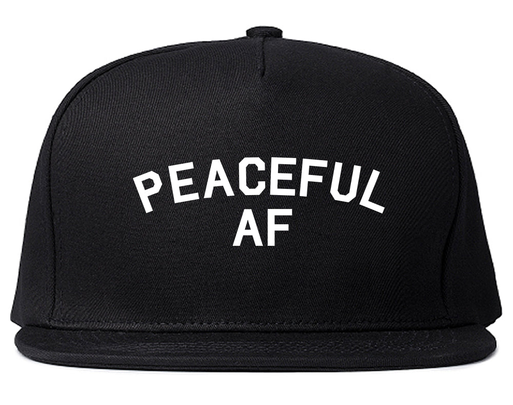 Peaceful AF Namaste Snapback Hat Black