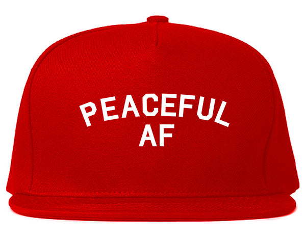 Peaceful AF Namaste Snapback Hat Red