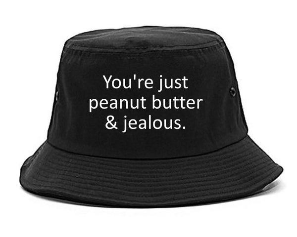 Peanut Butter Jealous Food black Bucket Hat