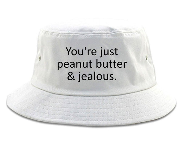 Peanut Butter Jealous Food white Bucket Hat