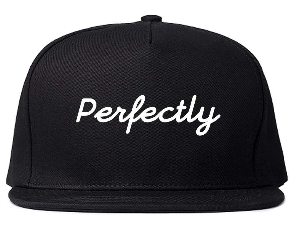 Perfectly Script Chest Snapback Hat Black