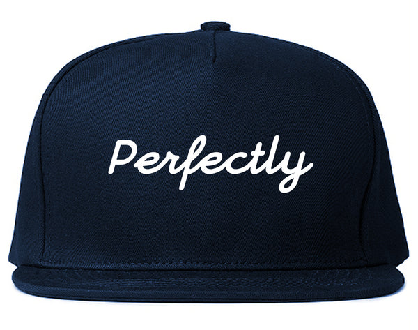 Perfectly Script Chest Snapback Hat Blue
