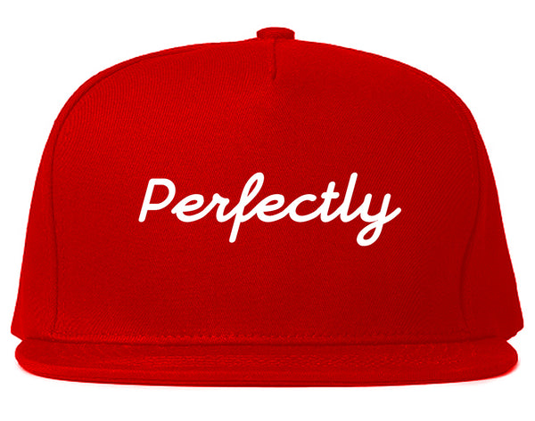 Perfectly Script Chest Snapback Hat Red