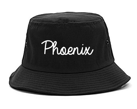 Phoenix Arizona Script Chest black Bucket Hat