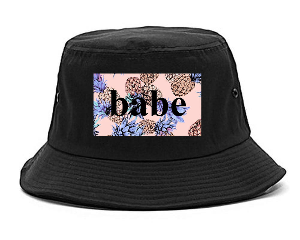 Pineapple Babe Fruit black Bucket Hat