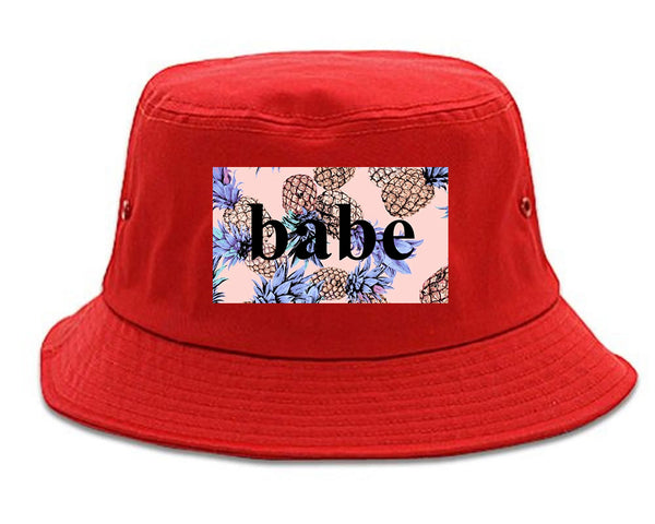 Pineapple Babe Fruit red Bucket Hat