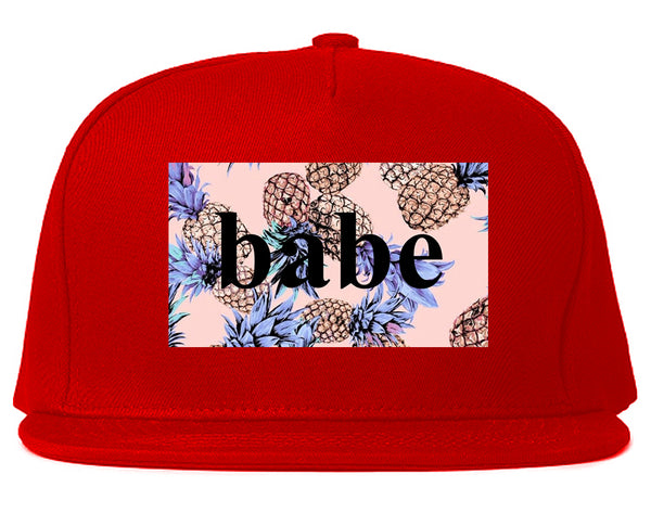 Pineapple Babe Fruit Red Snapback Hat
