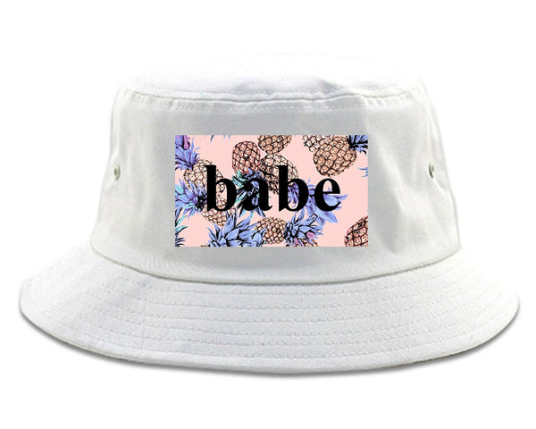 Pineapple Babe Fruit white Bucket Hat