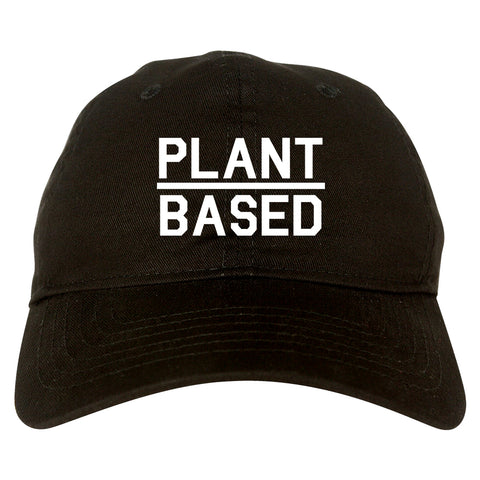 Plant Based Green Vegan black dad hat
