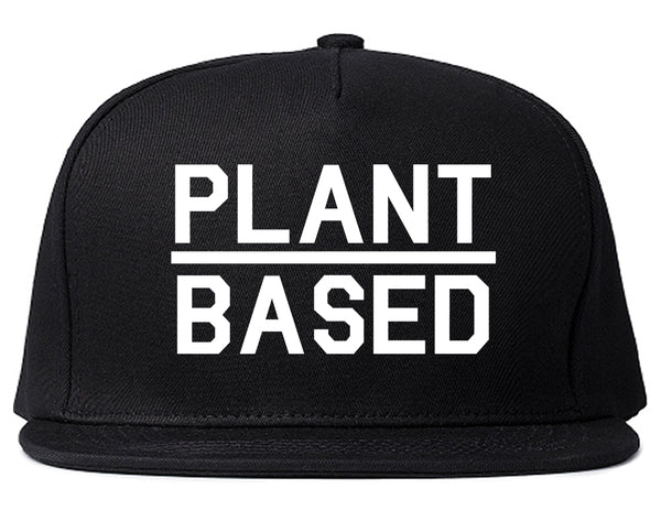 Plant Based Green Vegan Black Snapback Hat