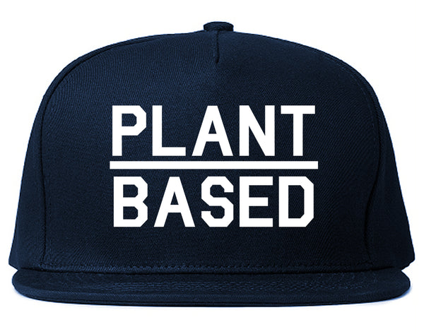 Plant Based Green Vegan Blue Snapback Hat