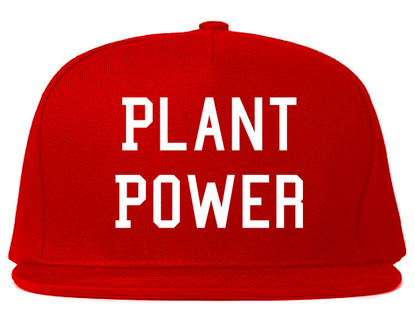 Plant Power Snapback Hat Red