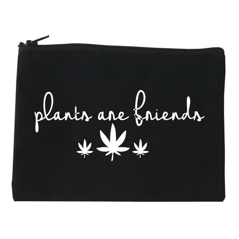 Plants Are Friends Pot Leaf 420 Makeup Bag Red