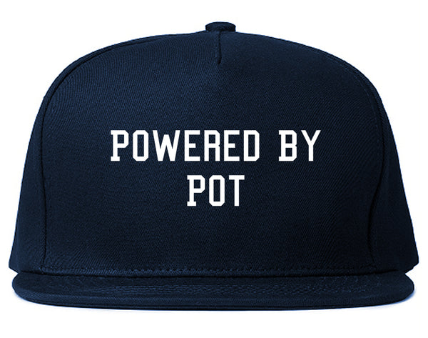 Powered By Pot Snapback Hat Blue
