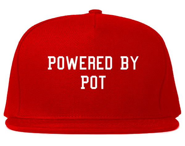 Powered By Pot Snapback Hat Red