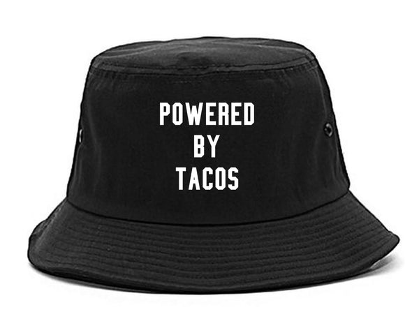 Powered By Tacos Black Bucket Hat