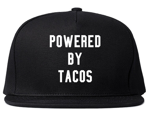 Powered By Tacos Black Snapback Hat