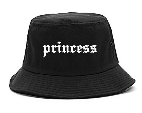 Princess Kawaii Olde English Chest black Bucket Hat