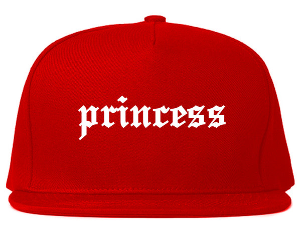 Princess Kawaii Olde English Chest Red Snapback Hat