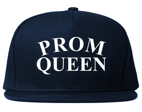 Prom Queen Snapback Hat Blue