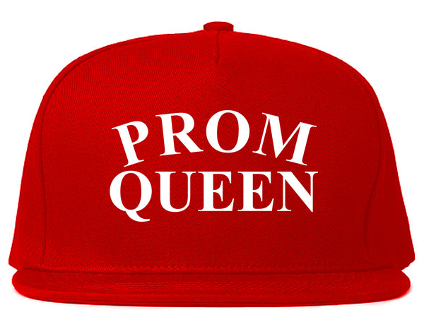 Prom Queen Snapback Hat Red