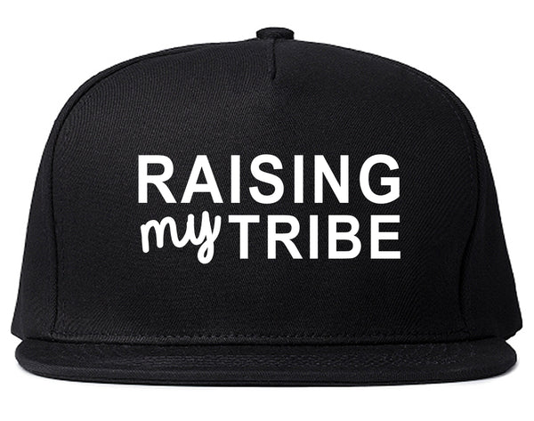 Raising My Tribe Mom Life Snapback Hat Black