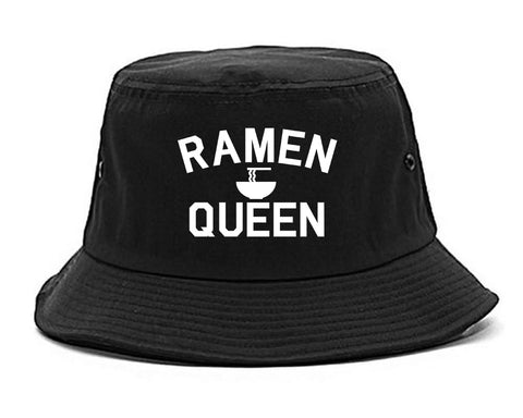 Ramen Queen Food black Bucket Hat