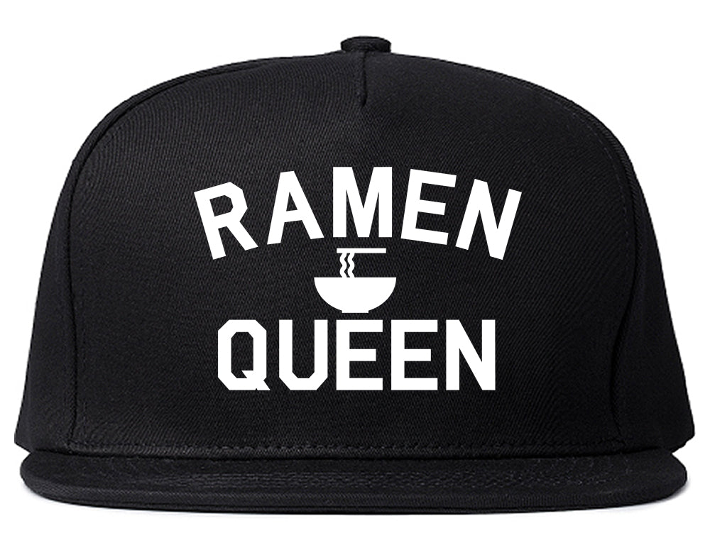 Ramen Queen Food Black Snapback Hat