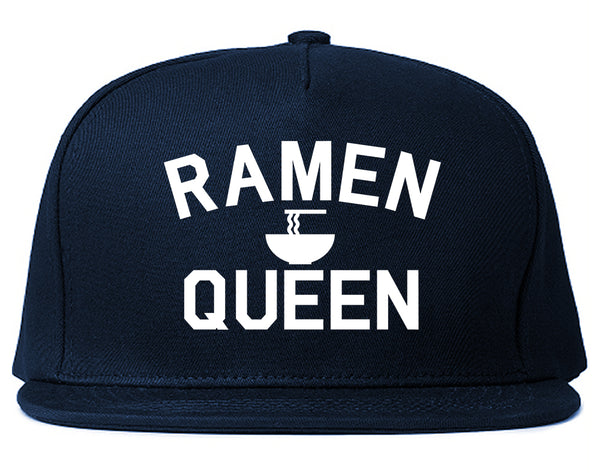 Ramen Queen Food Blue Snapback Hat