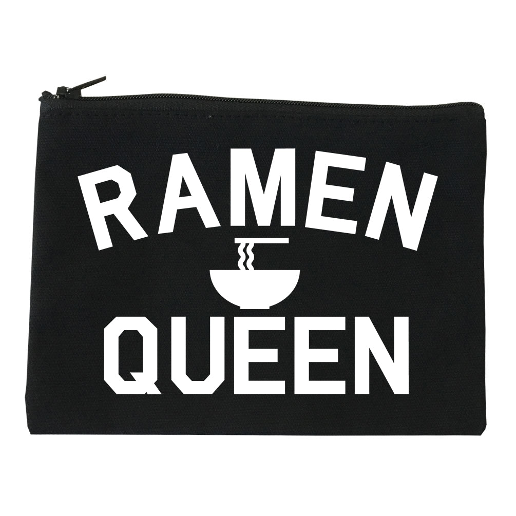 Ramen Queen Food black Makeup Bag