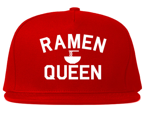 Ramen Queen Food Red Snapback Hat
