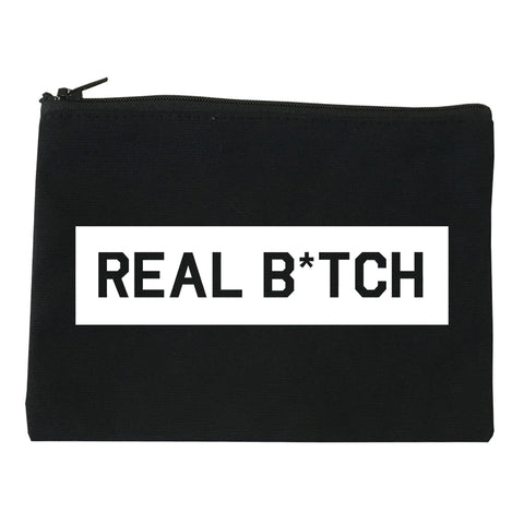 Real Bitch Box black Makeup Bag