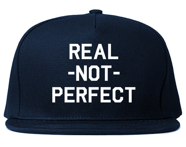 Real Not Perfect Snapback Hat Blue