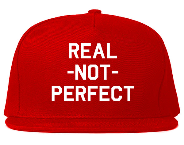 Real Not Perfect Snapback Hat Red