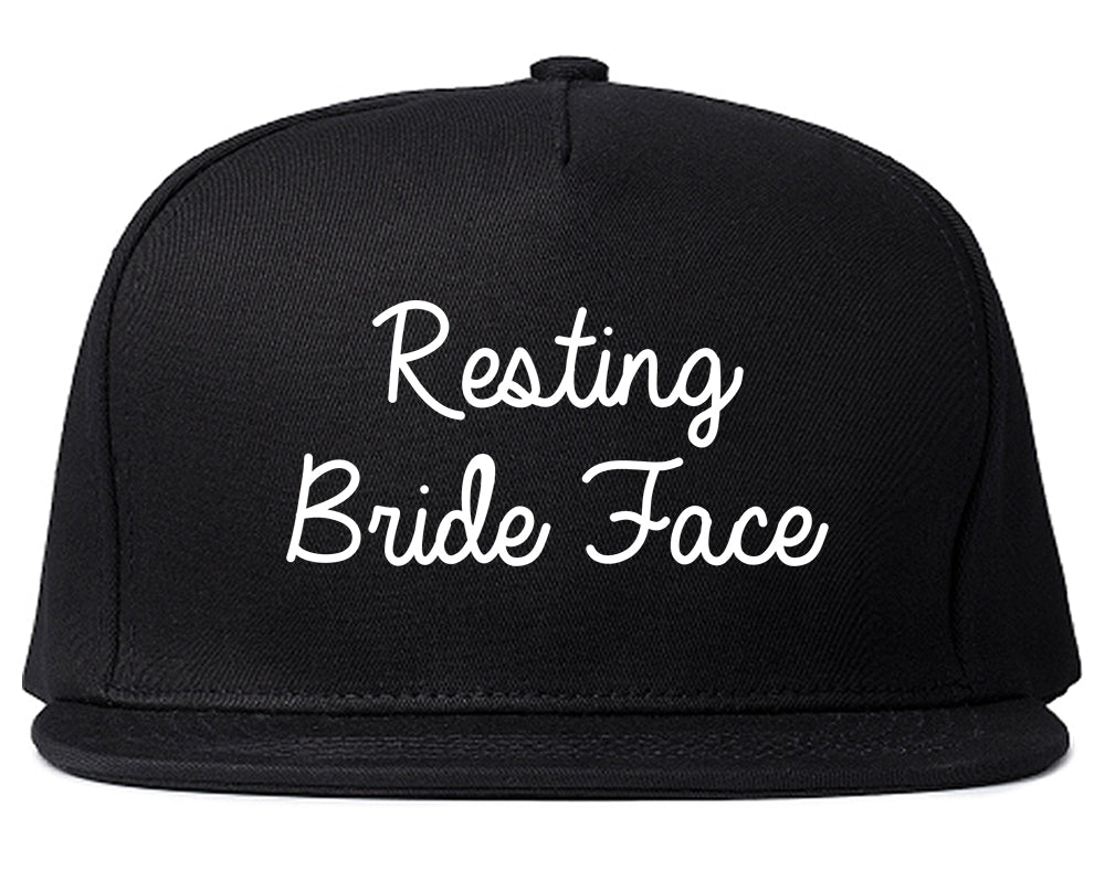 Resting Bride Face Funny Wedding Black Snapback Hat