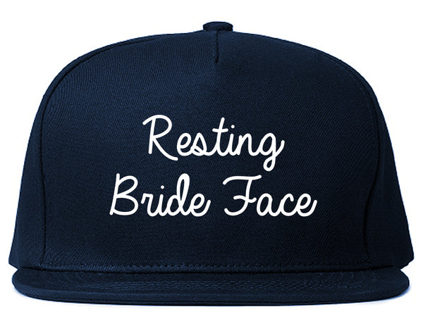 Resting Bride Face Funny Wedding Blue Snapback Hat