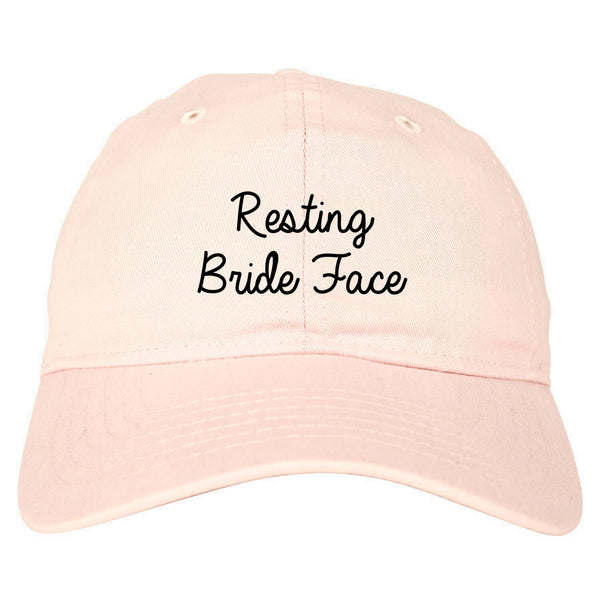Resting Bride Face Funny Wedding pink dad hat