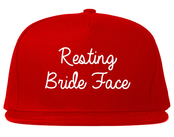 Resting Bride Face Funny Wedding Red Snapback Hat