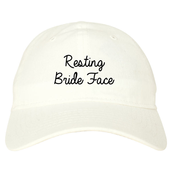 Resting Bride Face Funny Wedding white dad hat